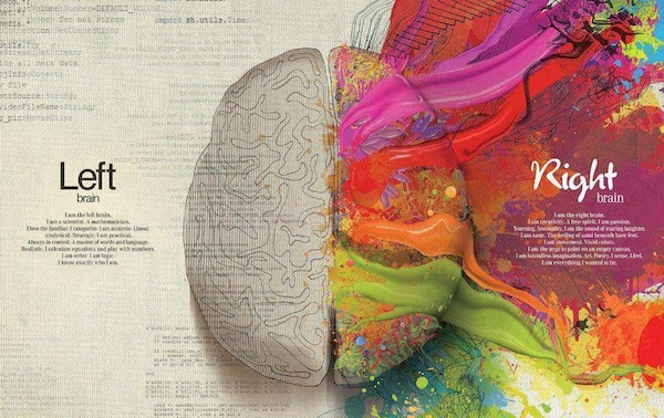 Left brain versus Right brain - courtesy of Mercedes Benz