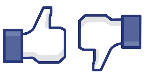 Facebook Like and Dislike buttons