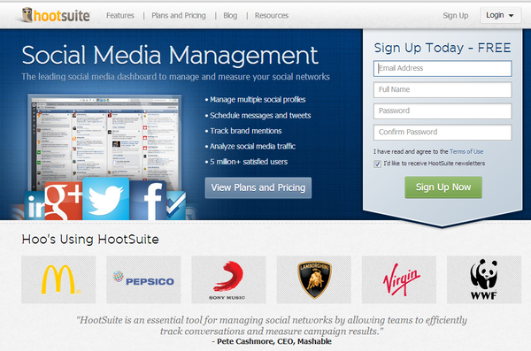 Hootsuite social media solutions