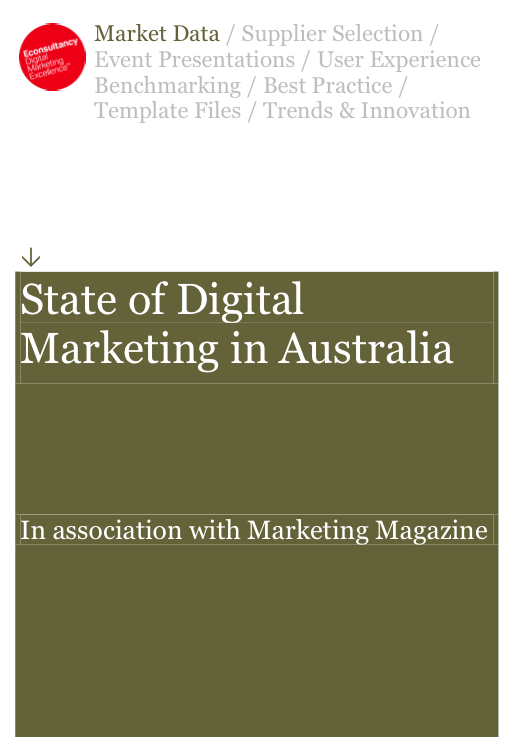 State of Digital Marketing in Australia econsultancy report