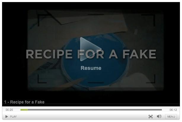 Pfizer recipe for a fake