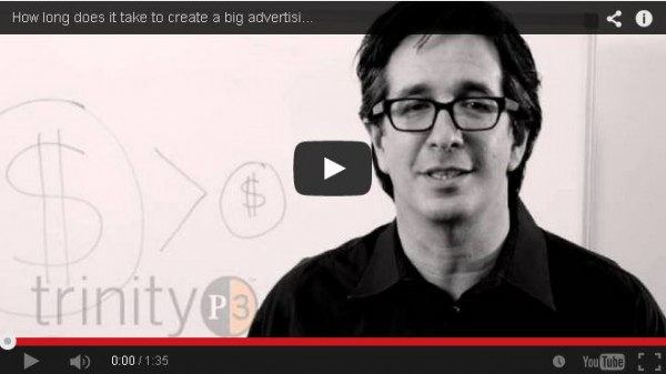 How long does it take to create a big advertising idea
