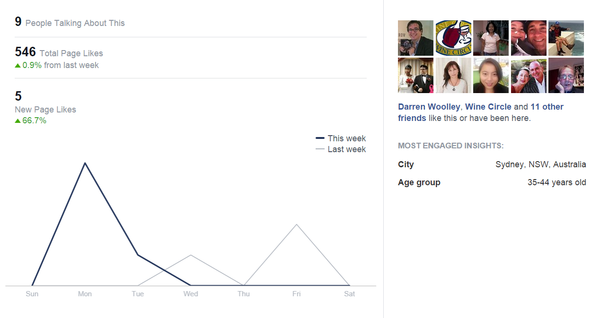 Facebook like insights