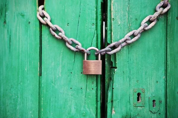 Green padlock signifying sustainability