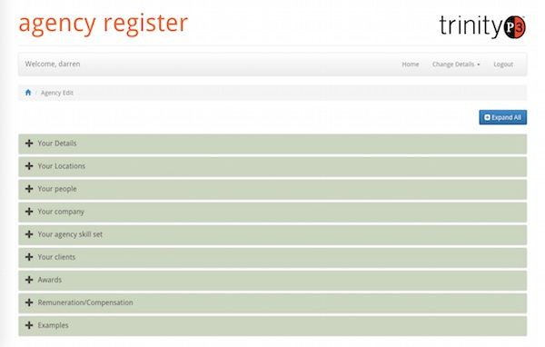 Agency Register Overview
