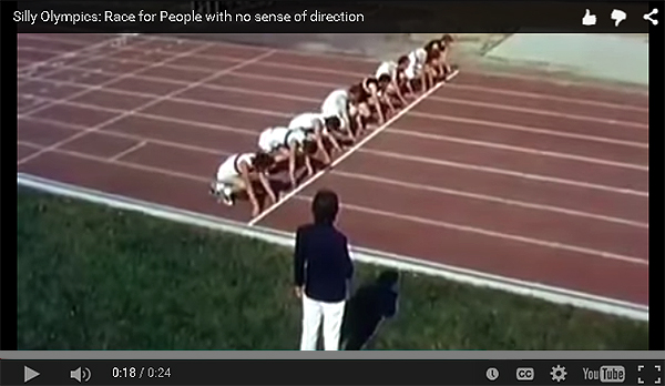 Silly olympics - no sense of direction