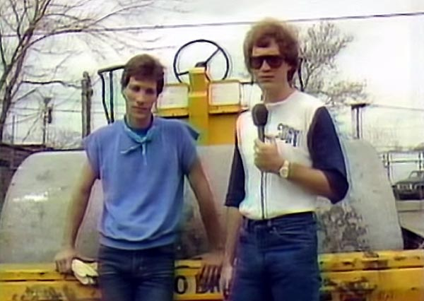 David Letterman with steamroller