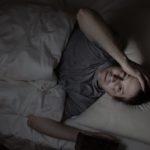 Mature man cannot fall asleep during night time