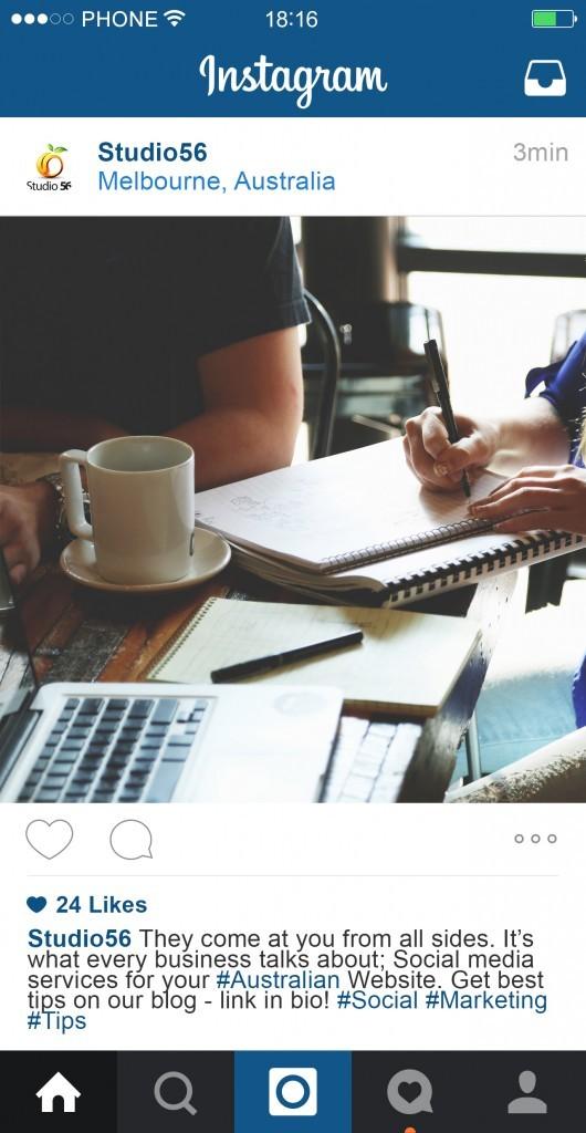 Example of good Instagram post