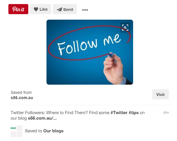 A pin from our Pinterest board Our blogs