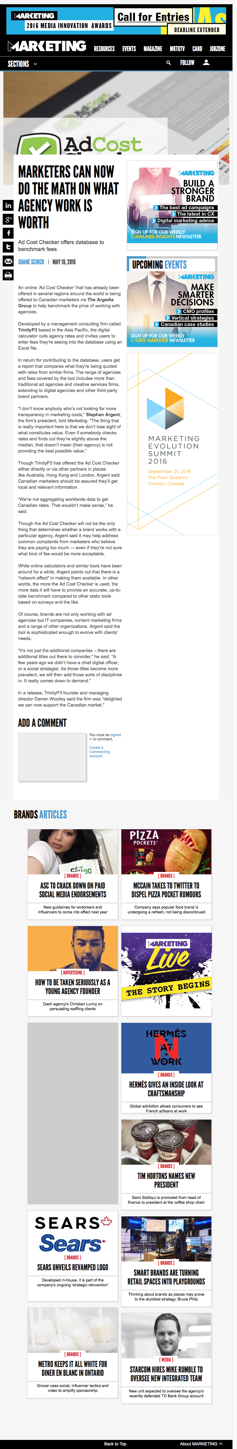 Publicity for TrinityP3   Media Links