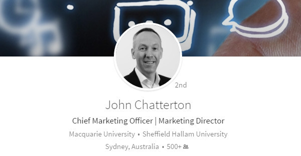 John Chatterton on Higher Education marketing
