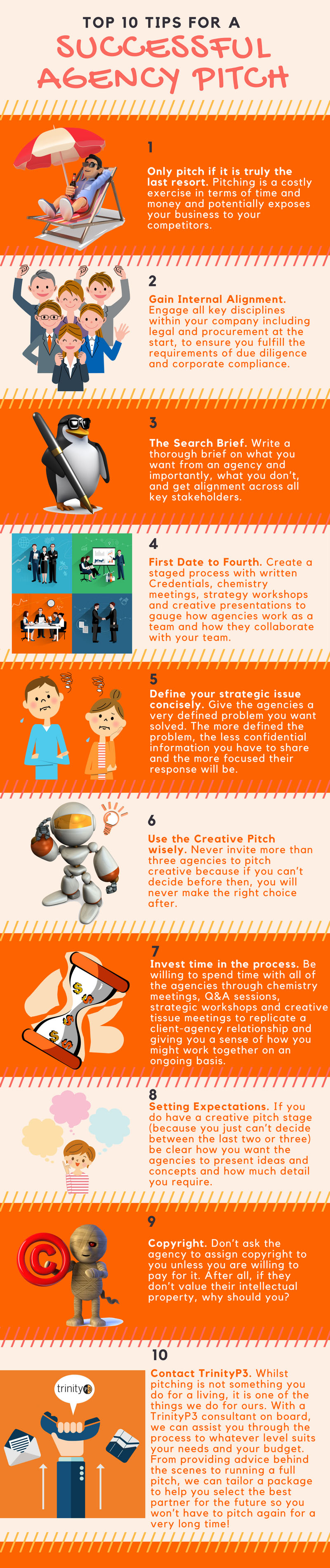 Top 10 tips for a successful agency pitch