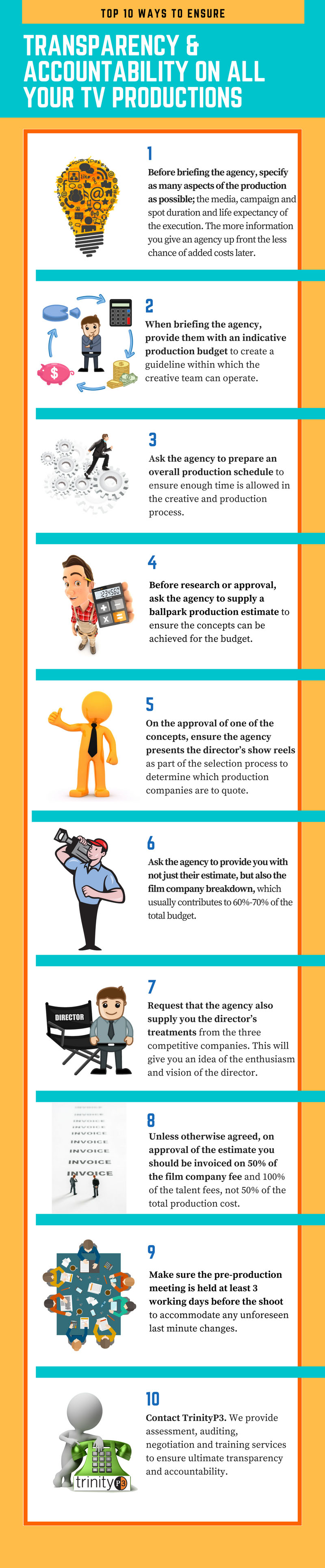 Top 10 ways to ensure transparency & accountability on all your TV productions