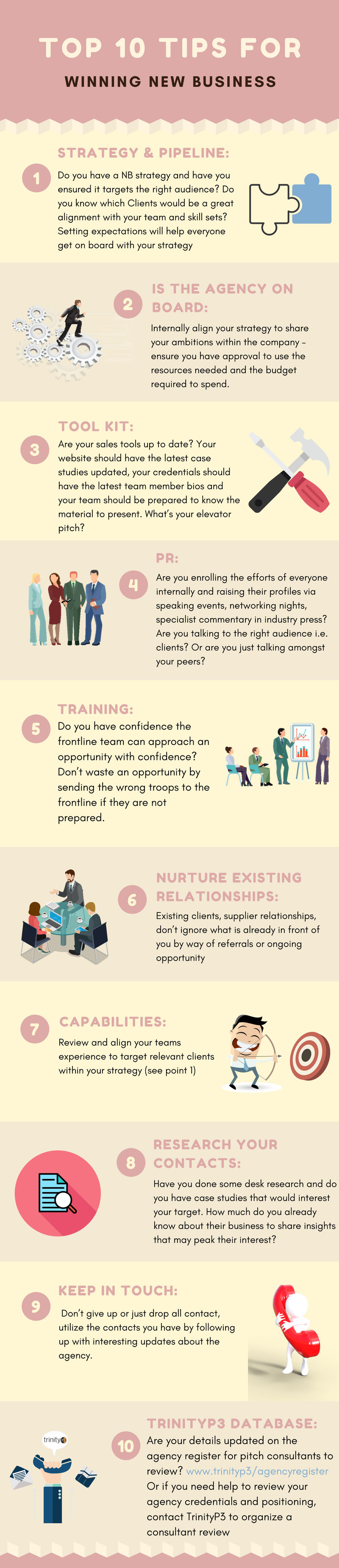 Top 10 tips for winning new business