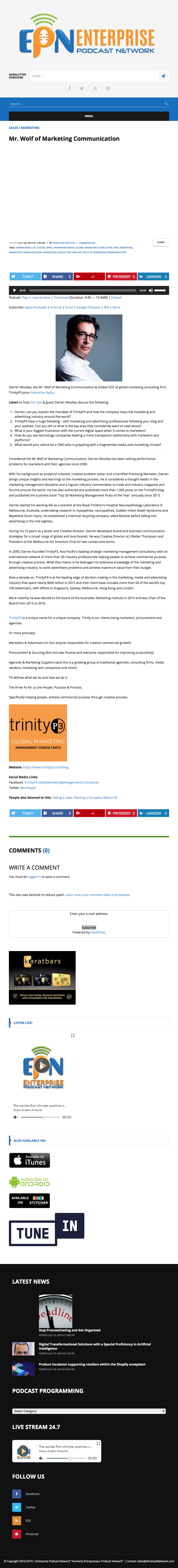 Publicity for TrinityP3 | Media Links