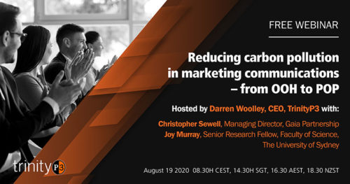 Reducing Carbon Pollution in Marketing Communications – From OOH To POP